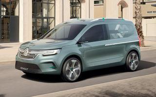 Renault Kangoo ZE: conceptul anticipează lansarea noii generații Kangoo în 2020