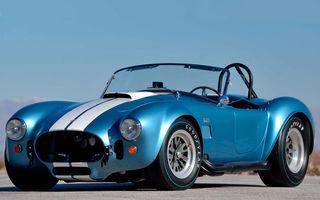 Patru exemplare Shelby Cobra vor fi scoase la licitație: prețul estimat de specialiști trece de 1.75 de milioane de dolari pentru fiecare unitate