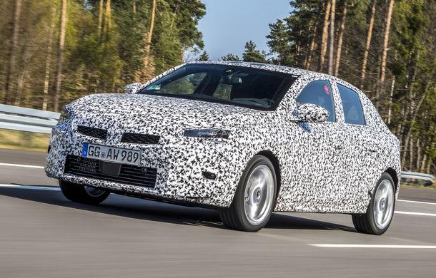 Primele imagini sub camuflaj cu noua generație Opel Corsa: vânzările încep în vară inclusiv pentru versiunea electrică - Poza 5