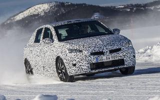 Primele imagini sub camuflaj cu noua generație Opel Corsa: vânzările încep în vară inclusiv pentru versiunea electrică