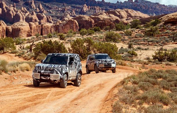 Land Rover a publicat imagini noi din timpul testelor cu viitorul Defender: prototipurile au parcurs 1.2 milioane de kilometri în condiții extreme - Poza 1