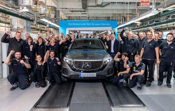 Mercedes-Benz anunță startul producției lui EQC: SUV-ul electric este asamblat la uzina din Bremen - Poza 1