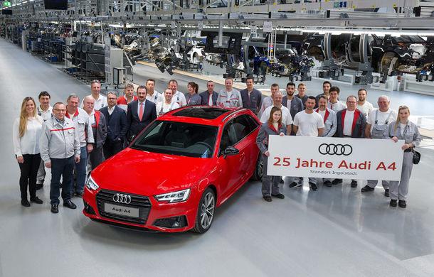 Audi aniversează 25 de ani de la lansarea lui A4: cel mai vândut model Audi a fost produs în peste 7.5 milioane de unități - Poza 1