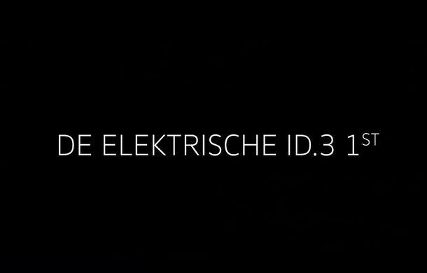 """Imagini și informații despre Volkswagen ID, """"scăpate"""" în clipuri oficiale publicate din greșeală: numele hatchback-ului electric va fi ID.3 - Poza 3"""