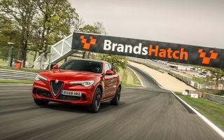 Alfa Romeo Stelvio Quadrifoglio stabilește timpi de referință pe trei circuite britanice: SUV-ul italian și-a arătat calitățile la Silverstone, Donington Park și Brands Hatch