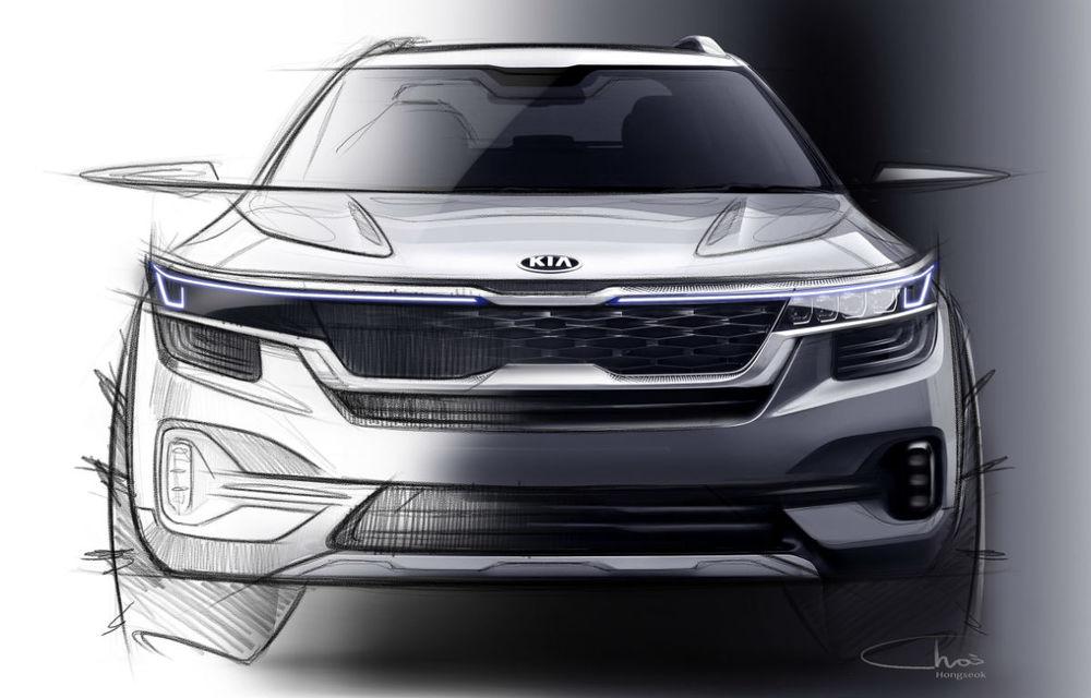 Primele schițe oficiale cu viitorul SUV de clasă mică Kia: lansare programată în vara anului 2019 - Poza 1