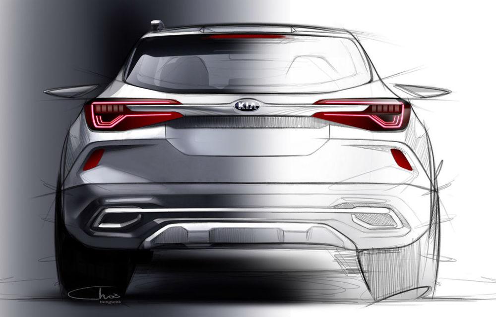 Primele schițe oficiale cu viitorul SUV de clasă mică Kia: lansare programată în vara anului 2019 - Poza 2