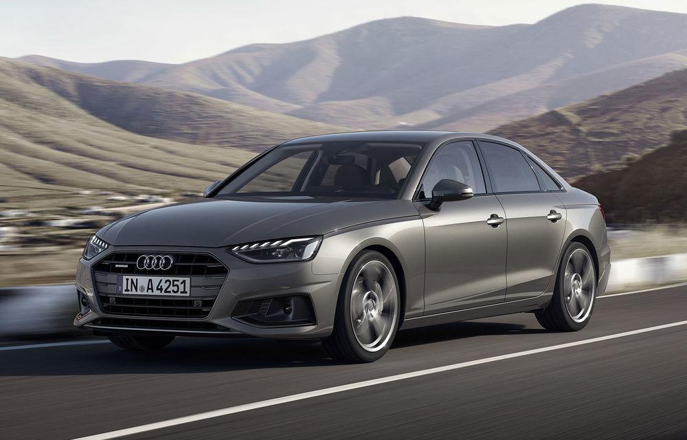 Îmbunătățiri pentru Audi A4: mici modificări de design și motorizări mild-hybrid - Poza 1
