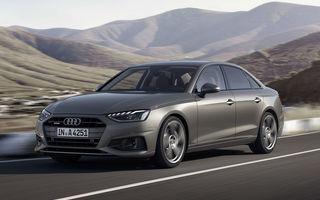 Îmbunătățiri pentru Audi A4: mici modificări de design și motorizări mild-hybrid