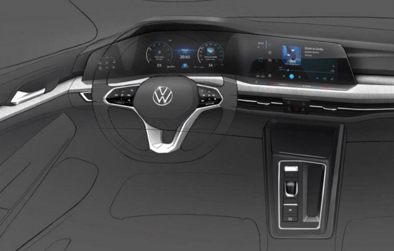 Prima imagine cu interiorul lui Volkswagen Golf 8: prezentarea oficială va avea loc în octombrie - Poza 1