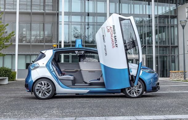 Renault lansează un experiment pentru un sistem de transport cu vehicule autonome: trei unități Zoe și un autobuz lângă Paris - Poza 5