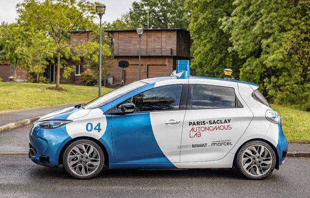 Renault lansează un experiment pentru un sistem de transport cu vehicule autonome: trei unități Zoe și un autobuz lângă Paris - Poza 10