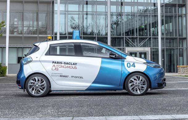 Renault lansează un experiment pentru un sistem de transport cu vehicule autonome: trei unități Zoe și un autobuz lângă Paris - Poza 6