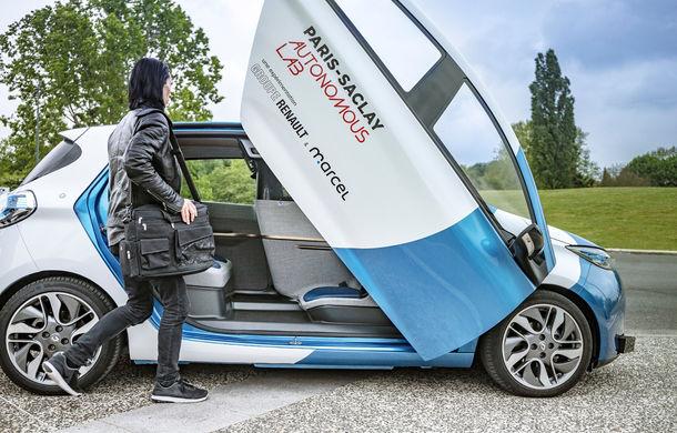 Renault lansează un experiment pentru un sistem de transport cu vehicule autonome: trei unități Zoe și un autobuz lângă Paris - Poza 8