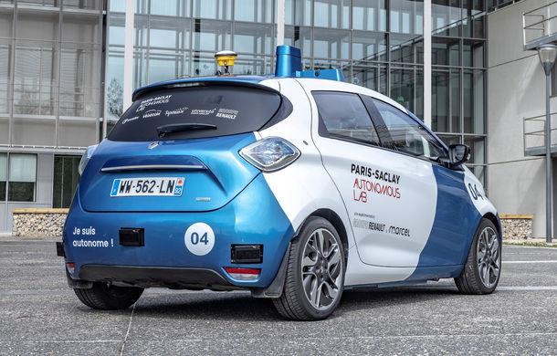 Renault lansează un experiment pentru un sistem de transport cu vehicule autonome: trei unități Zoe și un autobuz lângă Paris - Poza 4