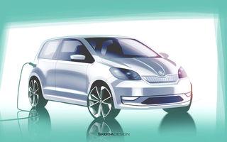 Prima schiță oficială cu viitorul Skoda Citigo iV: versiunea electrică a modelului de oraș va fi prezentată în 23 mai