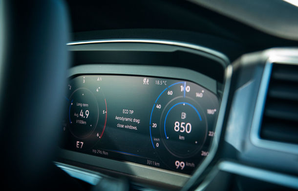 Provocare de autonomie: cu Volkswagen Tiguan 2.0 TDI 4Motion pe ruta București - Cluj-Napoca și retur cu un singur plin de carburant - Poza 21