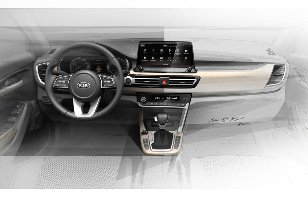 Kia dezvăluie primele schițe oficiale cu interiorul viitorului SUV de clasă mică: lansare programată în vara lui 2019 - Poza 1