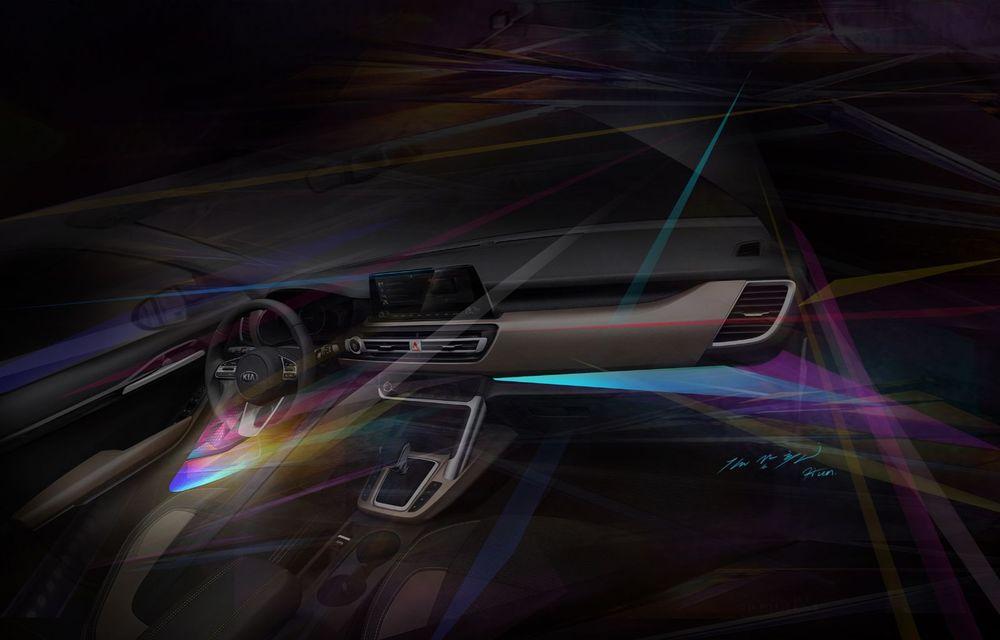 Kia dezvăluie primele schițe oficiale cu interiorul viitorului SUV de clasă mică: lansare programată în vara lui 2019 - Poza 3