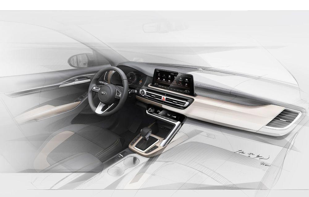 Kia dezvăluie primele schițe oficiale cu interiorul viitorului SUV de clasă mică: lansare programată în vara lui 2019 - Poza 2