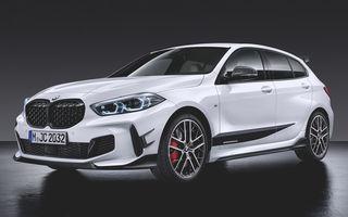 Accesorii M Performance pentru noua generație BMW Seria 1: elemente de caroserie și accesorii de interior derivate din cele utilizate în motorsport
