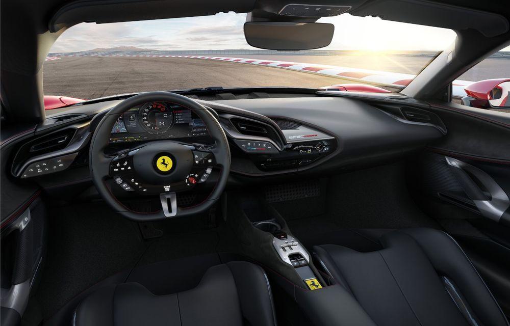 Ferrari SF90 Stradale, cel mai puternic model de serie dezvoltat până acum de constructorul italian: sistem plug-in hybrid de 1.000 CP și autonomie electrică de 25 de kilometri - Poza 8