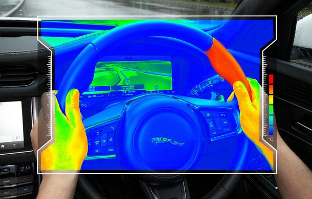 Jaguar Land Rover dezvoltă un volan cu senzori: șoferul primește informații de la sistemul de navigație prin modificarea temperaturii volanului - Poza 1