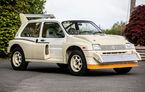 Un MG Metro 6R4 de Grupa B va fi scos la licitație: modelul destinat raliurilor a fost produs în 1985 și a rulat doar 11 kilometri