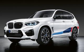 Personalizare cu accente sportive: BMW lansează gama de accesorii M Performance pentru BMW X3 M și X4 M