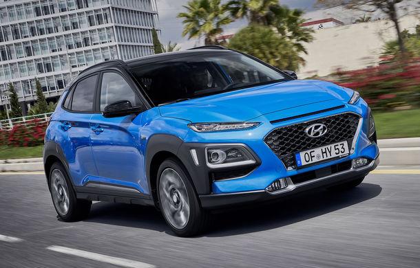 Hyundai prezintă Kona Hybrid: SUV-ul primește un hibrid clasic de 141 de cai putere împrumutat de la Kia Niro - Poza 1