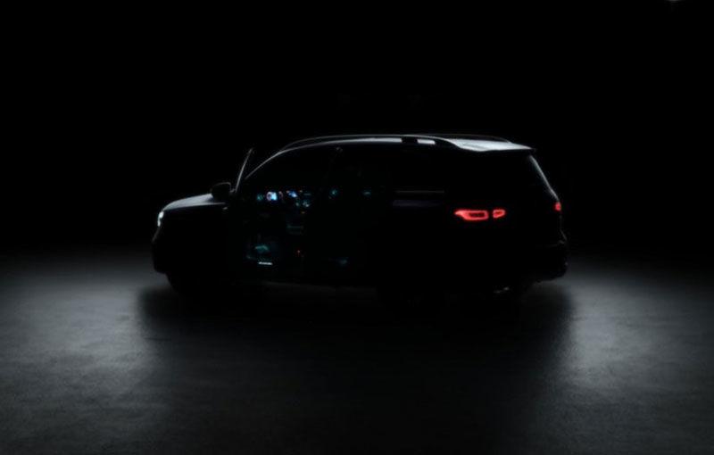 Prima imagine teaser cu versiunea de serie a lui Mercedes-Benz GLB Concept: SUV-ul compact cu 7 locuri debutează în vara acestui an - Poza 1