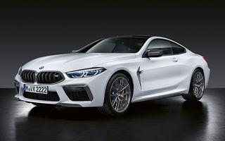 BMW M8 Coupe și M8 Cabrio primesc accesorii din partea M Performance: elemente de caroserie din fibră de carbon și un sistem de frânare mai bun