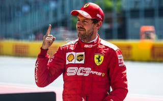 Vettel a obținut în Canada primul pole position din acest sezon în fața lui Hamilton! Leclerc și Ricciardo, pe a doua linie a grilei