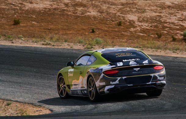 Primele imagini cu viitorul Bentley Continental GT care va concura în cursa de la Pikes Peak: britanicii vor să stabilească un record pentru mașinile de serie - Poza 4