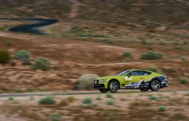 Primele imagini cu viitorul Bentley Continental GT care va concura în cursa de la Pikes Peak: britanicii vor să stabilească un record pentru mașinile de serie - Poza 3