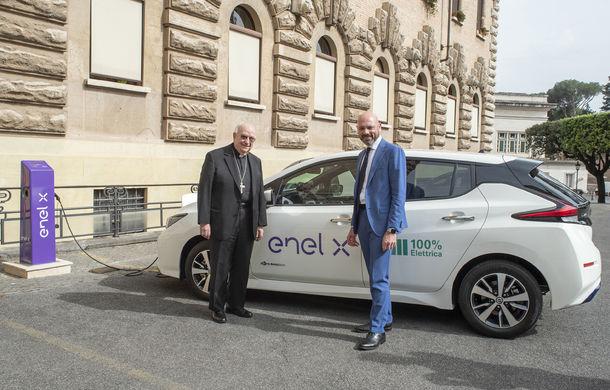 Enel X a instalat 12 puncte de încărcare pentru mașini electrice la Vatican: proiectul prevede în total 20 de puncte de încărcare - Poza 1
