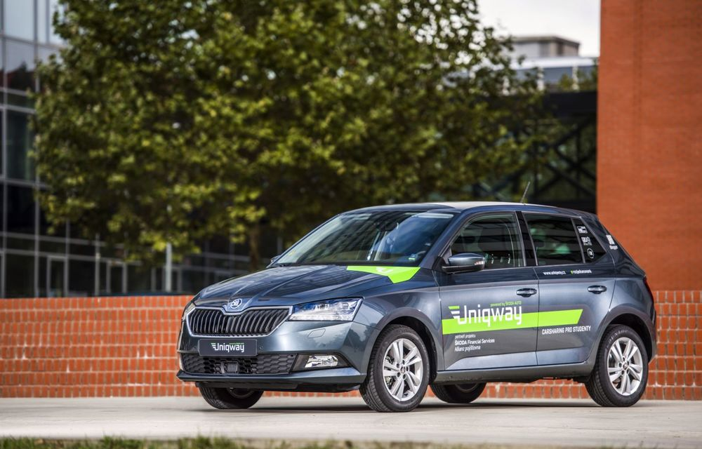 Skoda a lansat o platformă de car-sharing pentru studenți: proiectul Uniqway va fi testat inițial în Praga - Poza 2