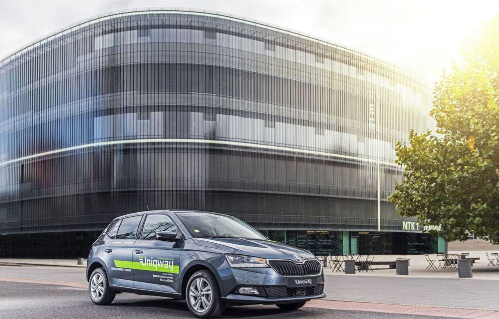 Skoda a lansat o platformă de car-sharing pentru studenți: proiectul Uniqway va fi testat inițial în Praga - Poza 1