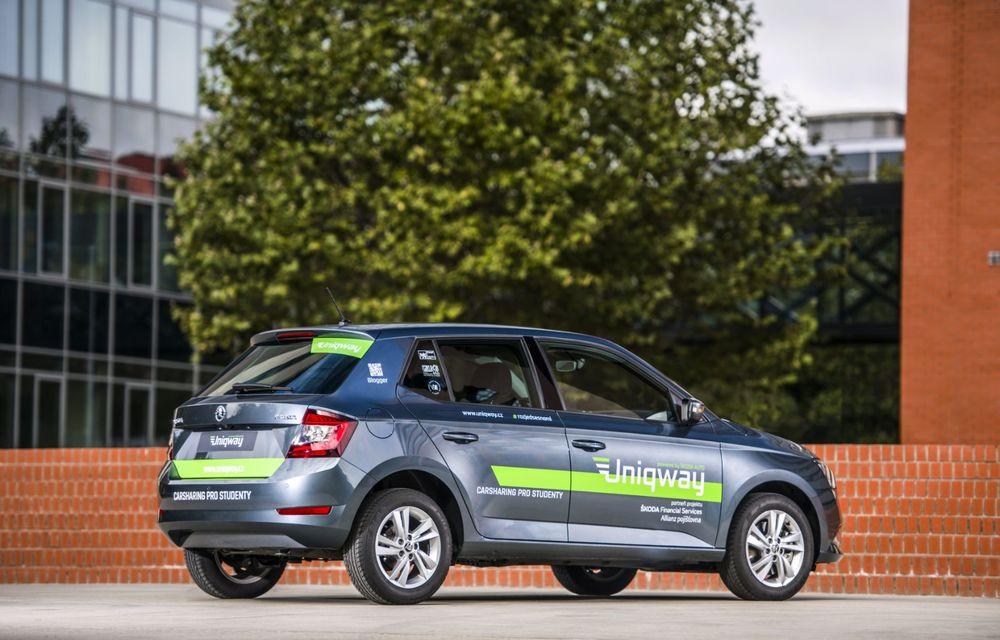 Skoda a lansat o platformă de car-sharing pentru studenți: proiectul Uniqway va fi testat inițial în Praga - Poza 3