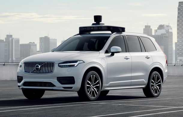 Volvo prezintă o versiune autonomă pentru XC90: SUV-ul a fost echipat cu sisteme autonome dezvoltate de Uber - Poza 1