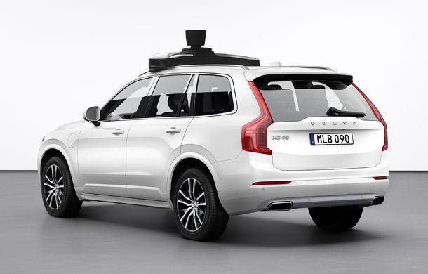 Volvo prezintă o versiune autonomă pentru XC90: SUV-ul a fost echipat cu sisteme autonome dezvoltate de Uber - Poza 4