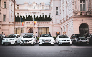#ElectricRomania: informațiile tehnice ale celor 5 mașini electrice din caravană