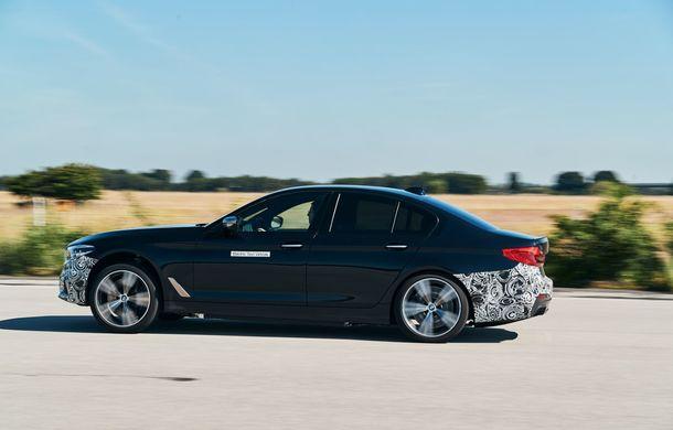 BMW Seria 5 a fost transformat în cobai pentru testarea viitoarelor sisteme electrice de propulsie: trei motoare și peste 720 CP - Poza 5