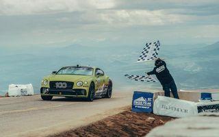 Cea mai rapidă mașină de serie pe Pikes Peak: Bentley Continental GT a parcurs celebra urcare în 10 minute și 18 secunde și a doborât vechiul record cu 8 secunde
