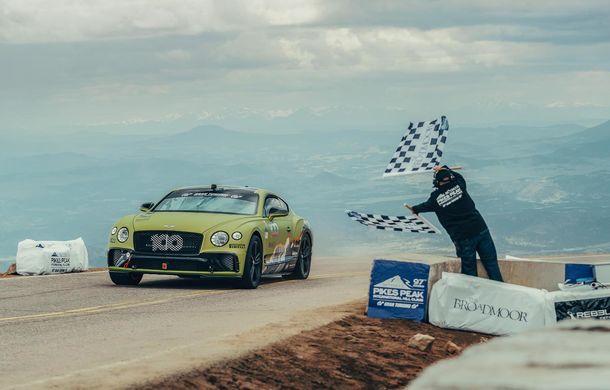 Cea mai rapidă mașină de serie pe Pikes Peak: Bentley Continental GT a parcurs celebra urcare în 10 minute și 18 secunde și a doborât vechiul record cu 8 secunde - Poza 1