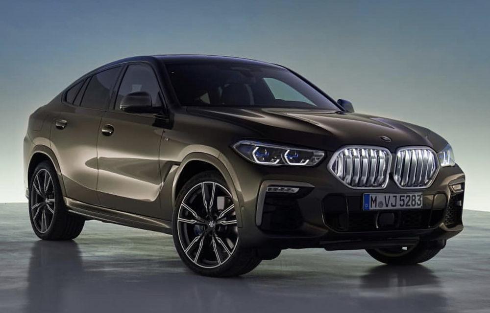 """Primele fotografii cu noua generație BMW X6 au """"scăpat"""" pe internet: SUV-ul primește o grilă frontală mai mare - Poza 1"""
