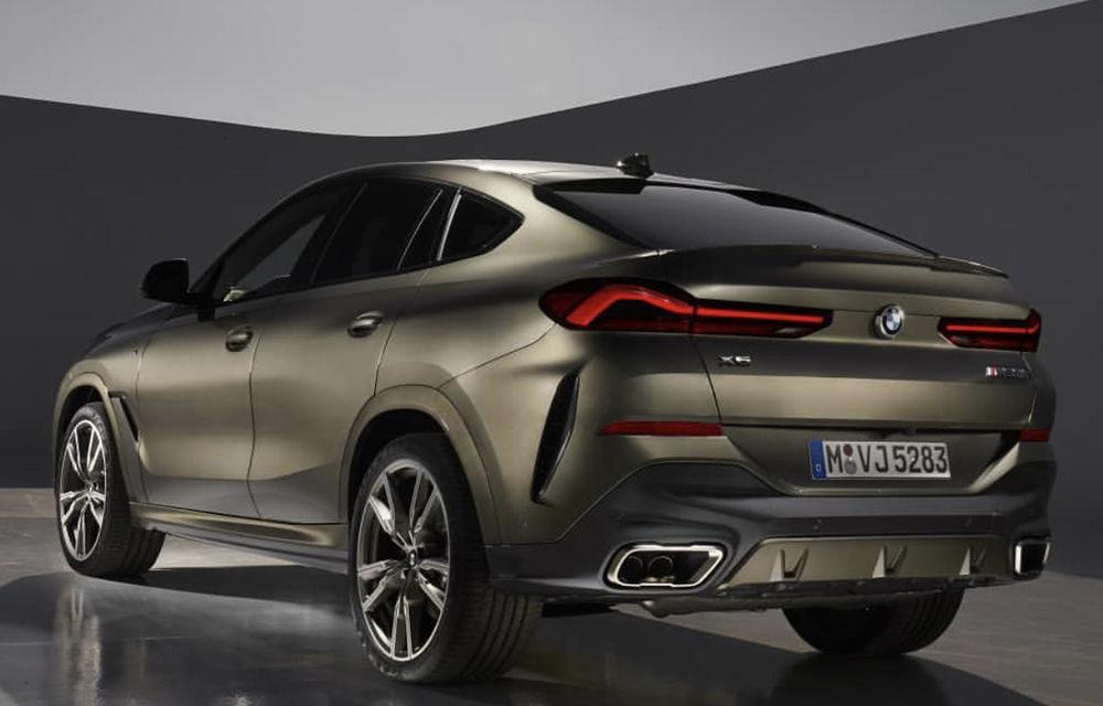 """Primele fotografii cu noua generație BMW X6 au """"scăpat"""" pe internet: SUV-ul primește o grilă frontală mai mare - Poza 3"""