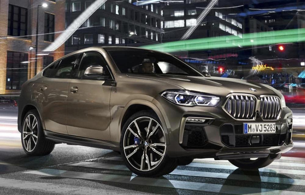 """Primele fotografii cu noua generație BMW X6 au """"scăpat"""" pe internet: SUV-ul primește o grilă frontală mai mare - Poza 2"""