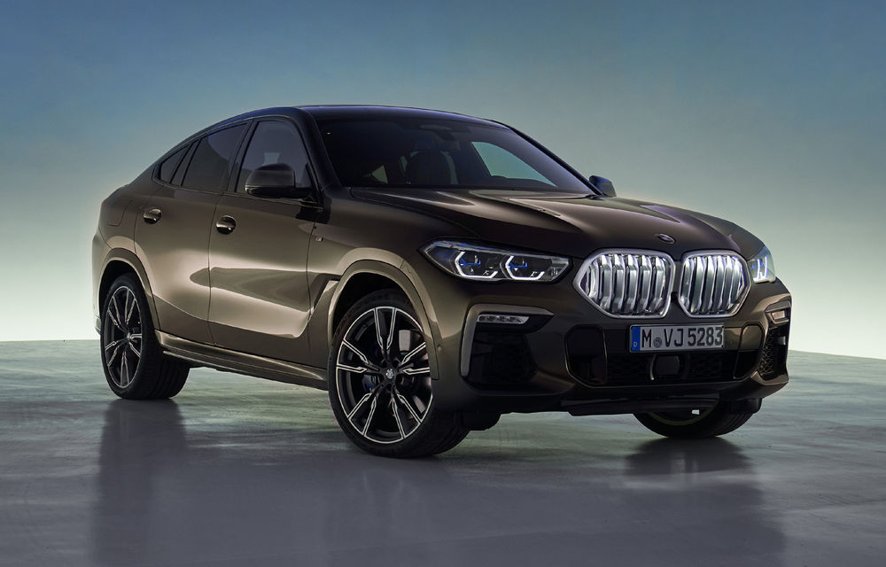 Imagini și detalii tehnice pentru noua generație BMW X6: motor pe benzină V8 de 530 de cai putere și grilă iluminată - Poza 1