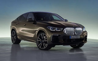 Imagini și detalii tehnice pentru noua generație BMW X6: motor pe benzină V8 de 530 de cai putere și grilă iluminată